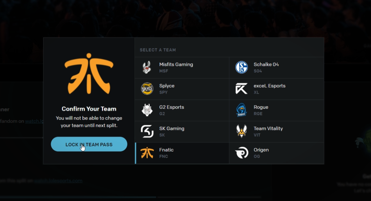 Show your colours with the Fnatic LEC Team Pass - Fnatic